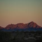 the desert mountains