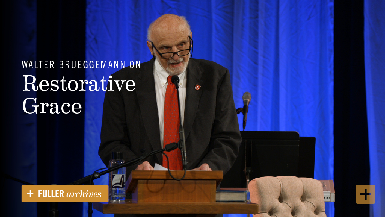 Walter Brueggemann explores God's restorative grace and the ways it necessitates and energizes the restored community's witness, worship, and work of justice.