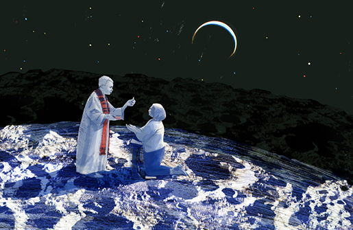 thumb communion on the moon