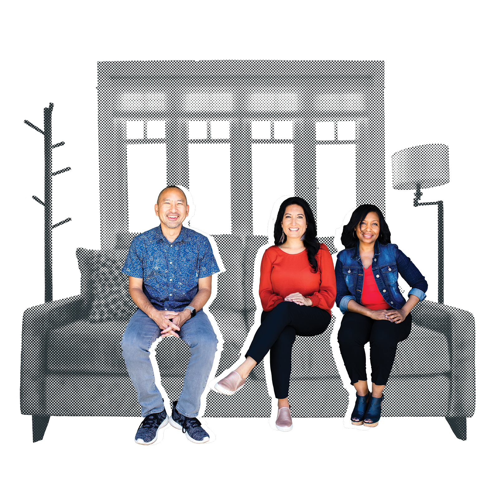 fuller chaplains on a couch illustration