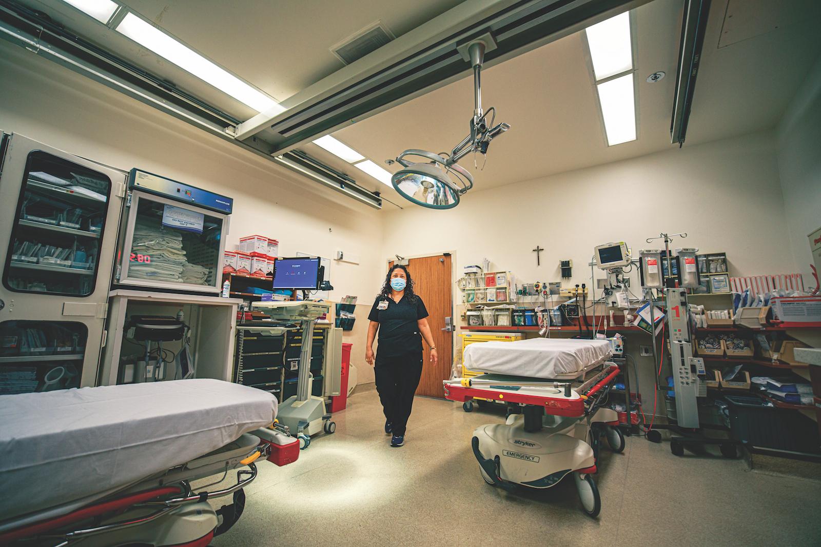 nurse in hospital room