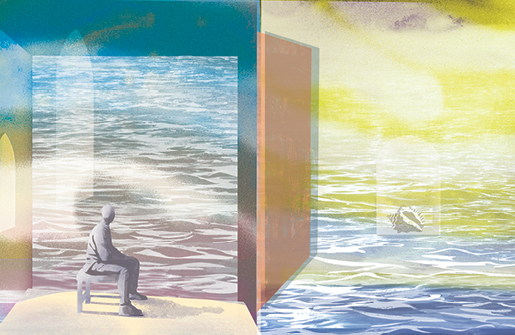 illustration of a man sitting thumbnail