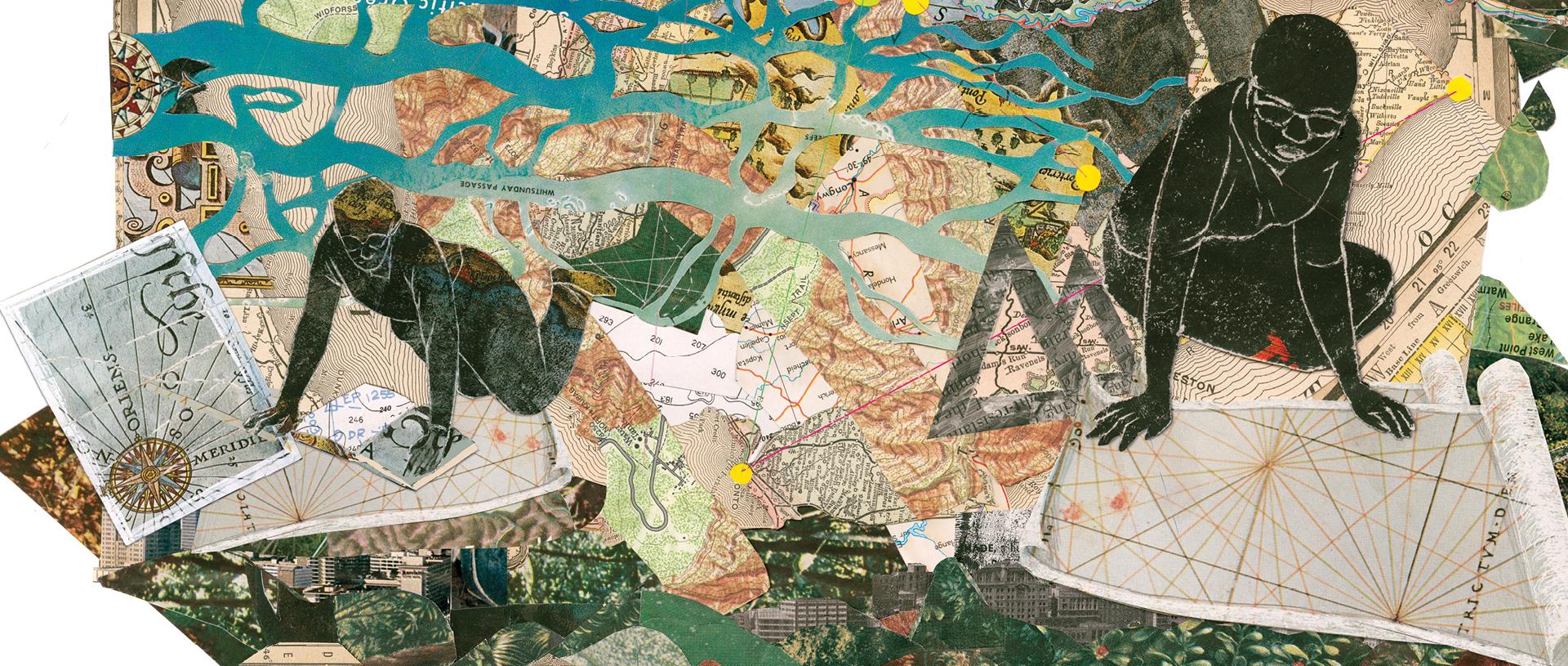 map making illustration banner
