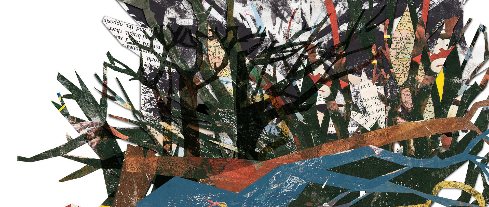 tree illustration banner