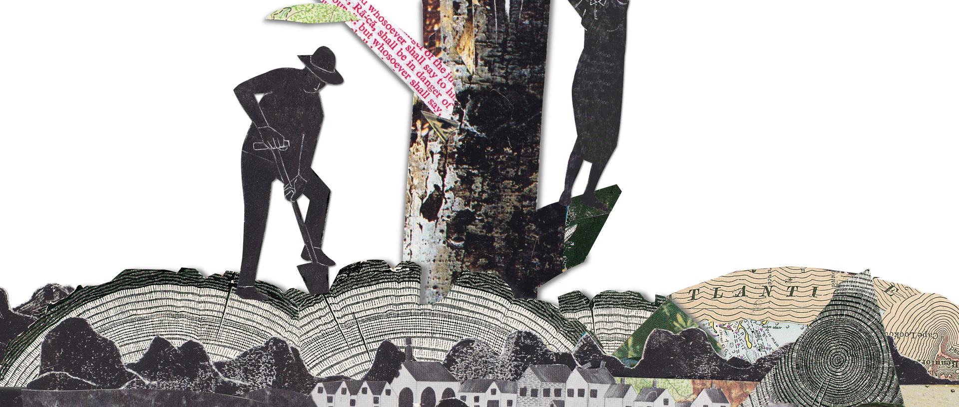 digging illustration banner