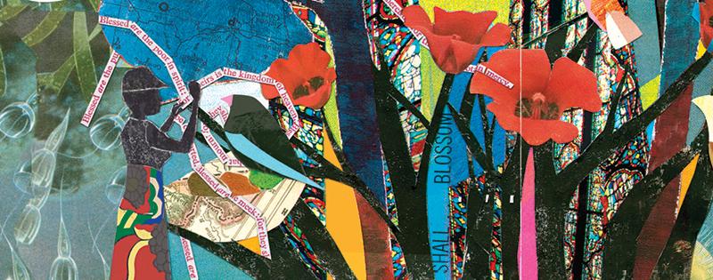 flower illustration banner